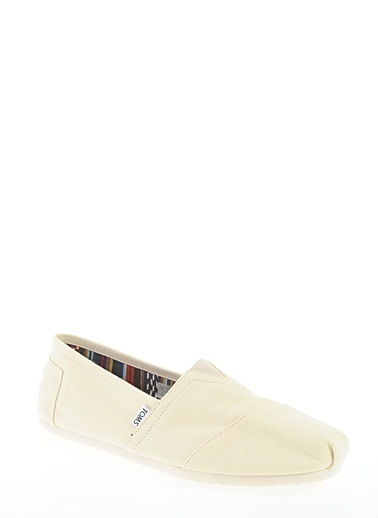 Toms Natural Canvas Mn Clsc Alprg Nl Renkli